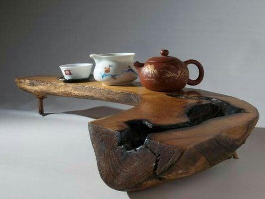 bàn trà độc đáo từ gốc cây