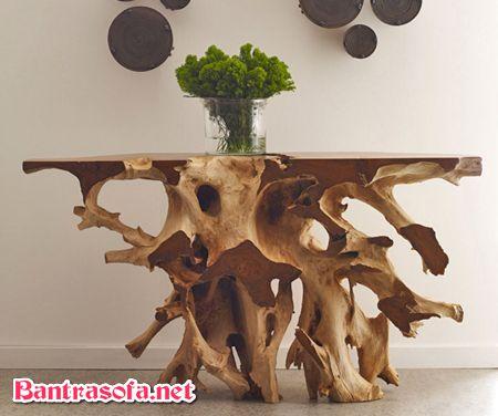 bàn trà gỗ gốc cây độc đáo