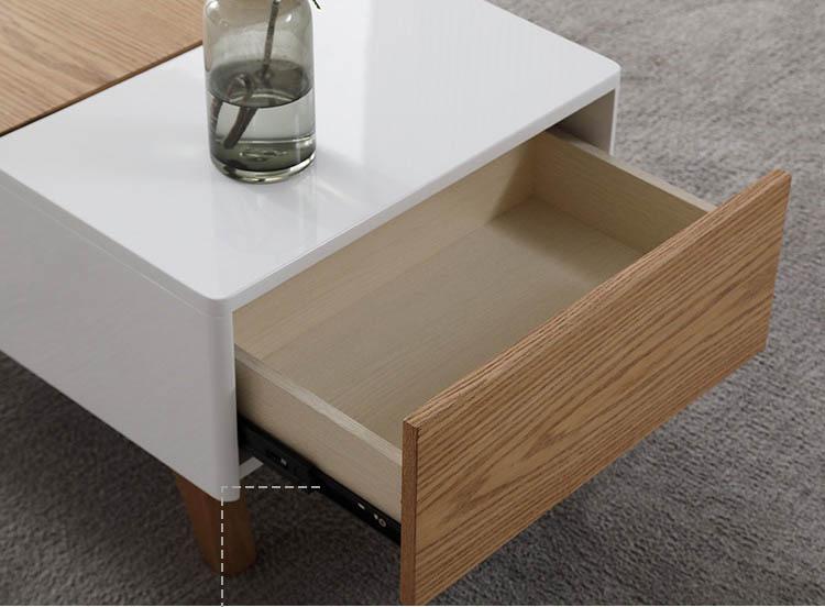 bàn trà gỗ công nghiệp có ngăn kéo