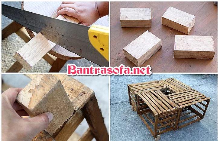 làm chân bàn trà sofa bằng gỗ pallet