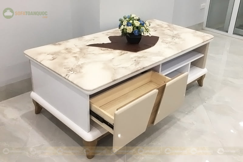 bàn trà sofa chân gỗ