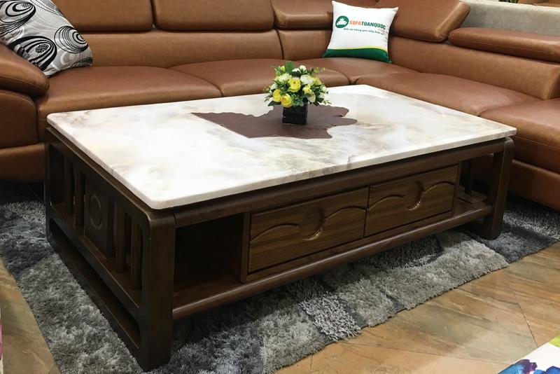 bàn trà sofa khung gỗ tự nhiên