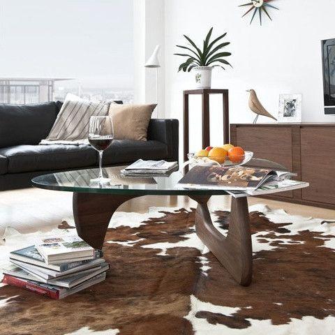 bàn trà noguchi chân gỗ