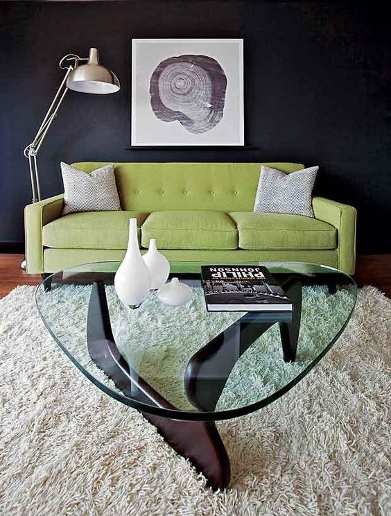 không gian bài trí bàn trà sofa đẹp mang tên noguchi