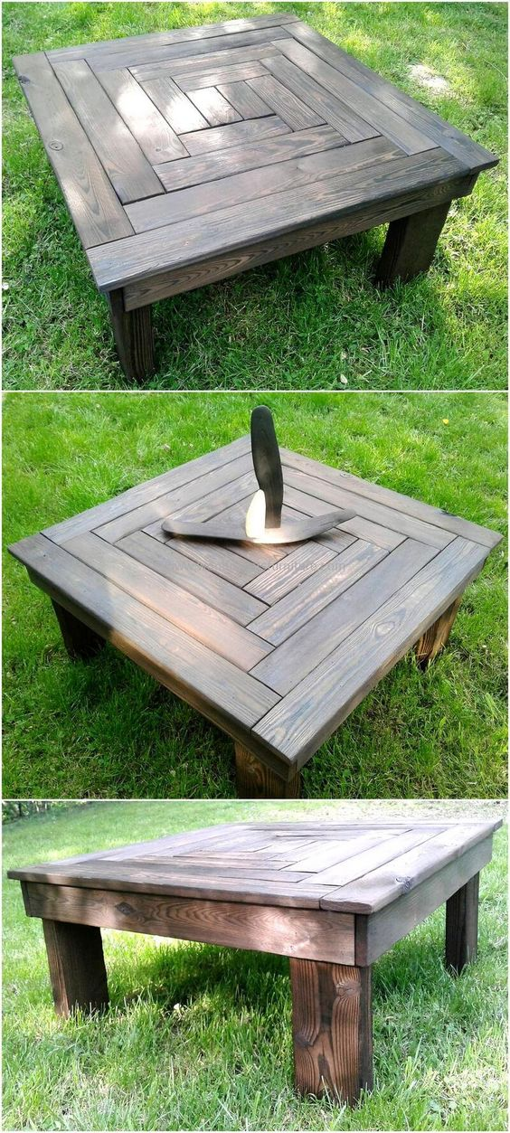 bàn trà gỗ tự nhiên dùng ngoài trời
