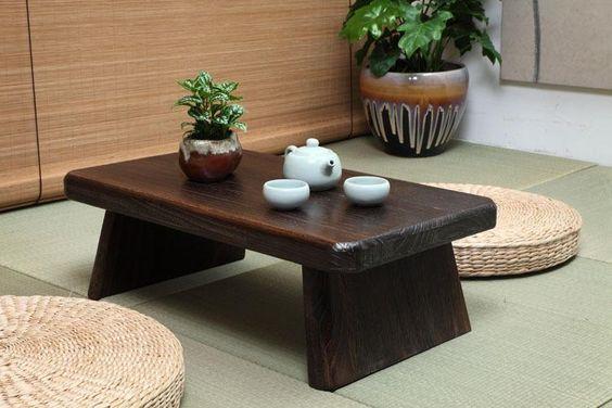bàn trà ngồi bệt bằng gỗ tự nhiên