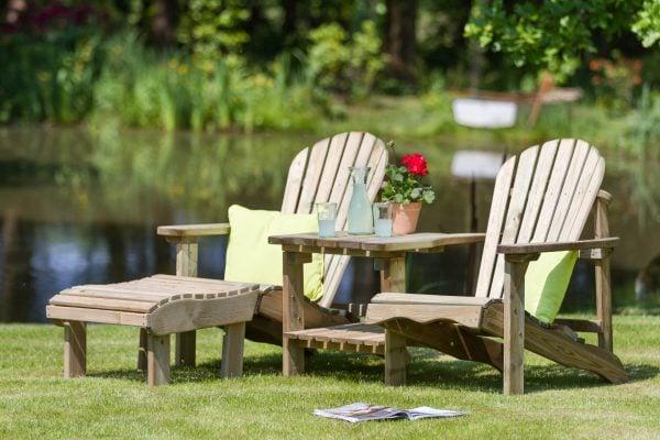 bàn trà ngoài trời bằng gỗ tự nhiên