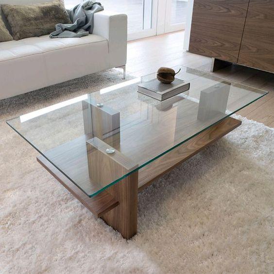 bàn trà kính có 2 tầng