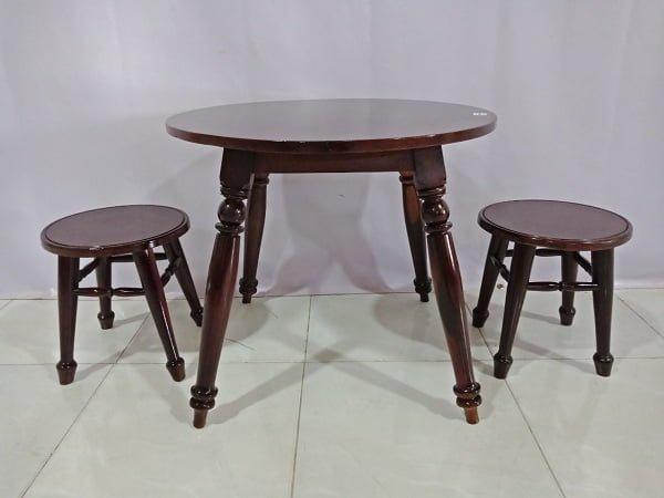 bộ bàn ghế uống trà tân cổ điển màu nâu