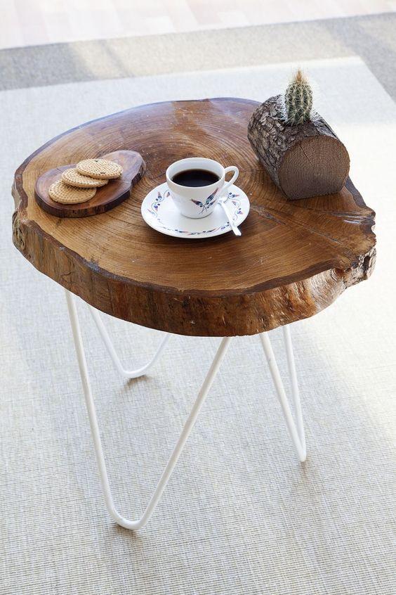 bàn trà gốc cây diy