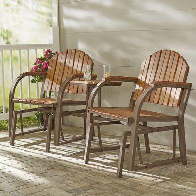 bàn trà sofa kèm theo ghế tựa gỗ tự nhiên ngoài hiên nhà