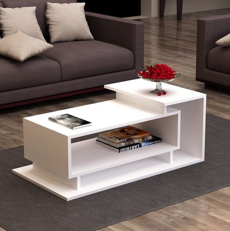 bàn trà 2 tầng cho phòng khách gia đình