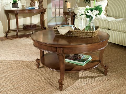 bàn trà tròn dạng 2 tầng gỗ tự nhiên