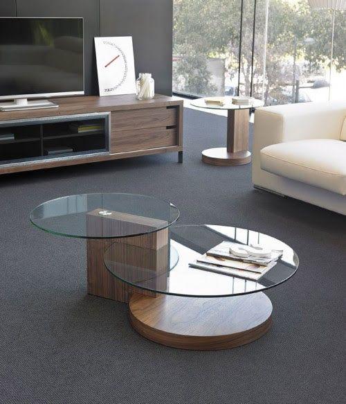 bàn trà đôi 2 tầng mặt kính chân gỗ