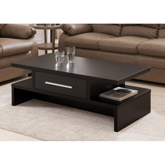 bàn trà gỗ tự nhiên sử dụng 2 tầng