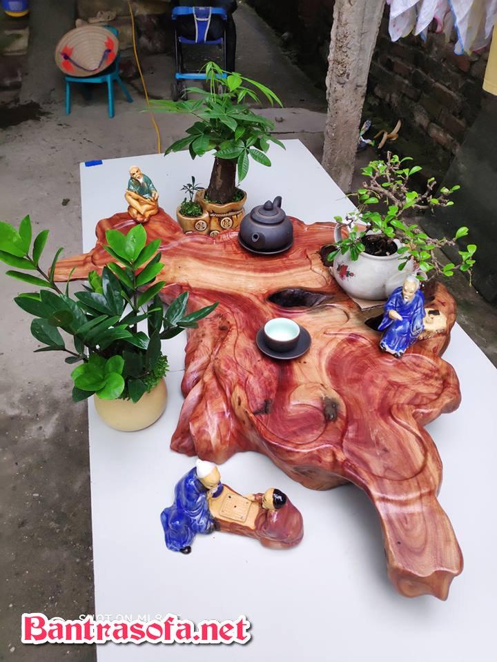 khay trà gỗ hương nguyên khối
