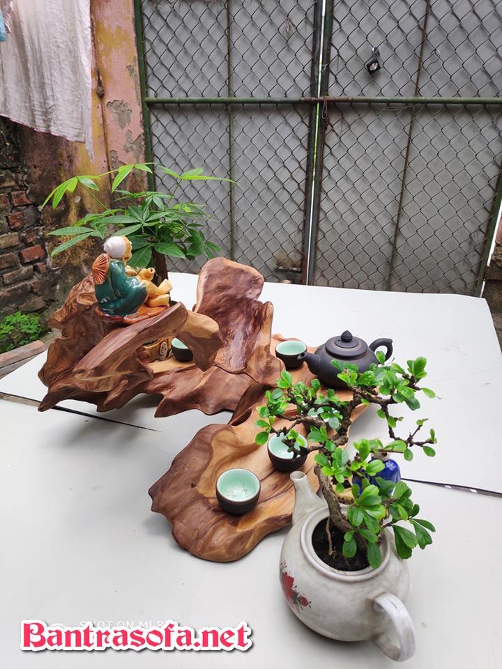 mẫu khay trà gỗ chạm khắc đẹp tinh tế