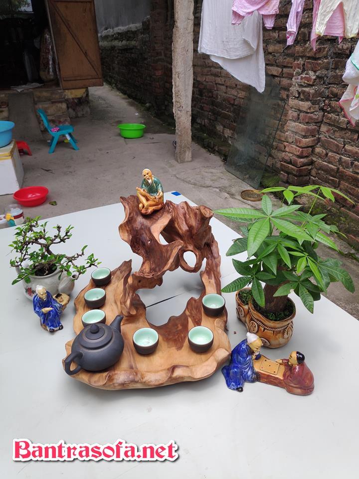 mẫu khay trà đẹp bằng gỗ tự nhiên