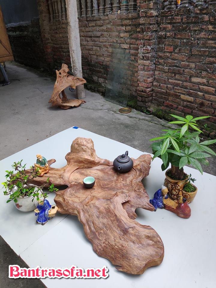 Khay trà bằng gỗ đẹp và sang
