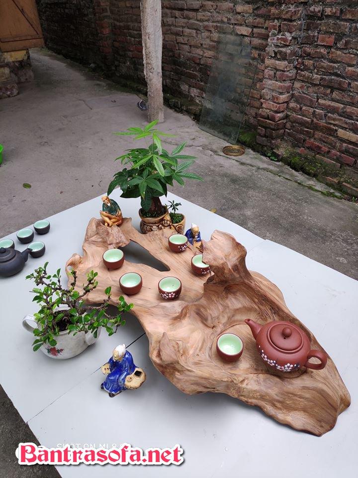 khay uống trà bằng gỗ tự nhiên tinh tế
