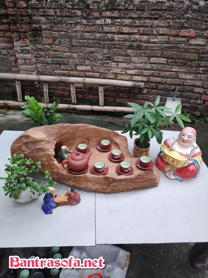 khay trà gỗ trắc nguyên khối đẹp