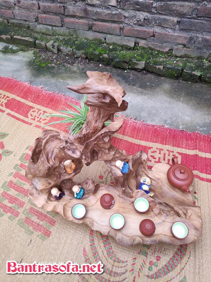 mẫu bàn trà bằng gỗ gốc cây