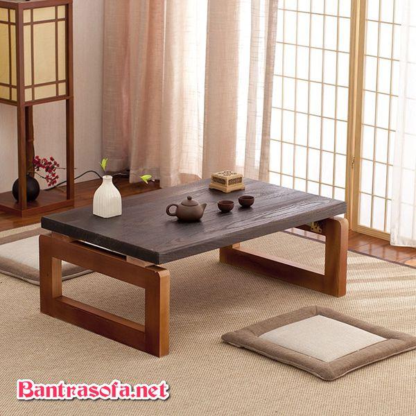 bàn trà chân gấp chân thấp
