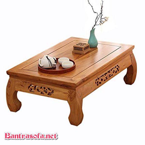 bàn trà osin gỗ sồi kiểu đơn giản