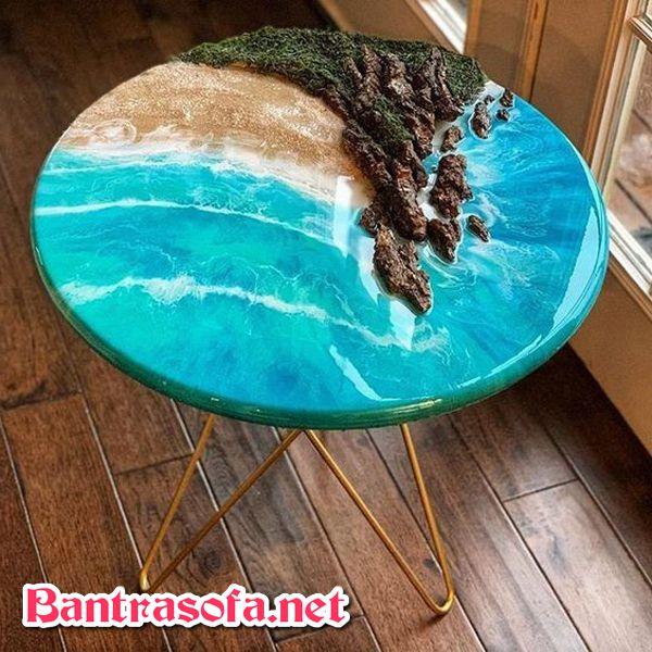 bàn trà epoxy resin cho phòng khách