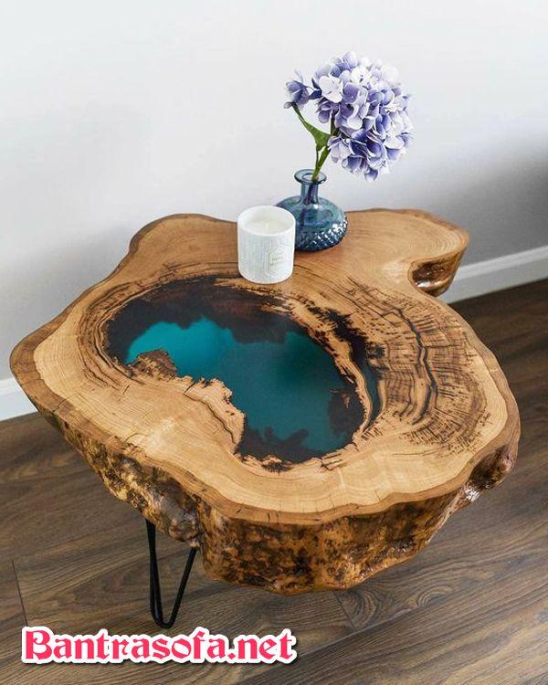 bàn gỗ epoxy uống nước