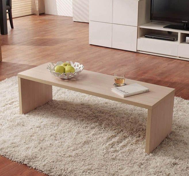 bàn trà gỗ công nghiệp đơn giản hình chữ nhật