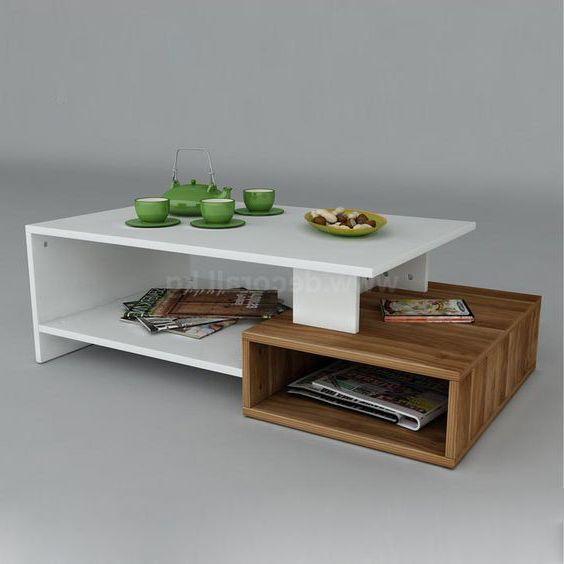 bàn trà 2 tầng gỗ công nghiệp đẹp