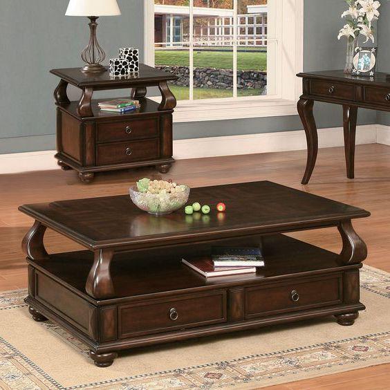 bàn trà hình chữ nhật gỗ tự nhiên