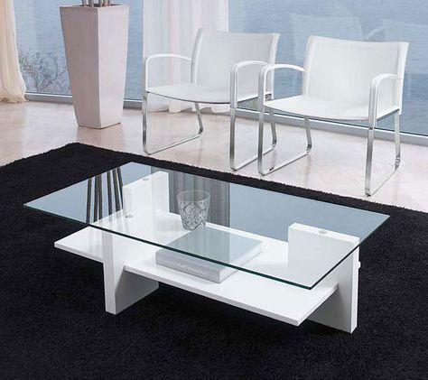 bàn trà chữ nhật mặt kính khung gỗ công nghiệp