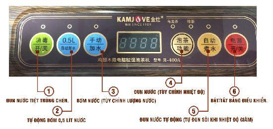Một hệ thống nút điều khiển khác của bàn trà điện Kamjove