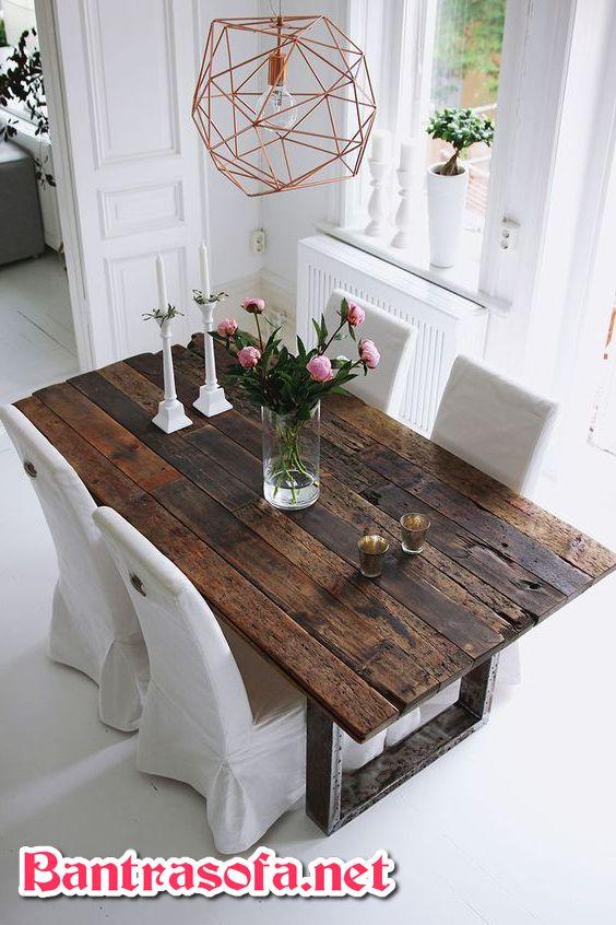 bàn trà gỗ đẹp phong cách vintage