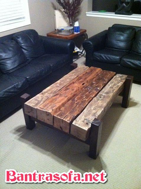 bàn trà gỗ phong cách vintage xưa cũ