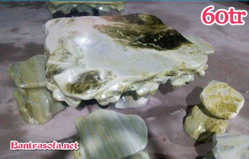 Bộ bàn ghế uống trà bằng đá tự nhiên cẩm thạch