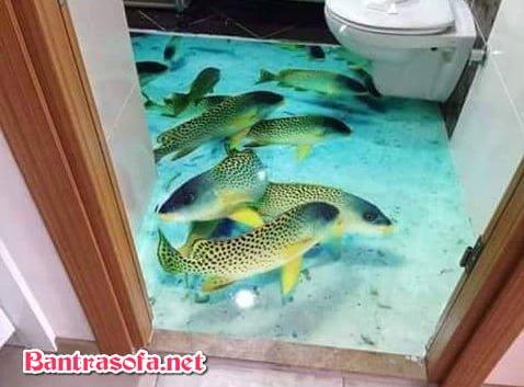 Hoặc sử dụng phủ keo trong phòng tắm, nhà vệ sinh cũng rất đẹp.