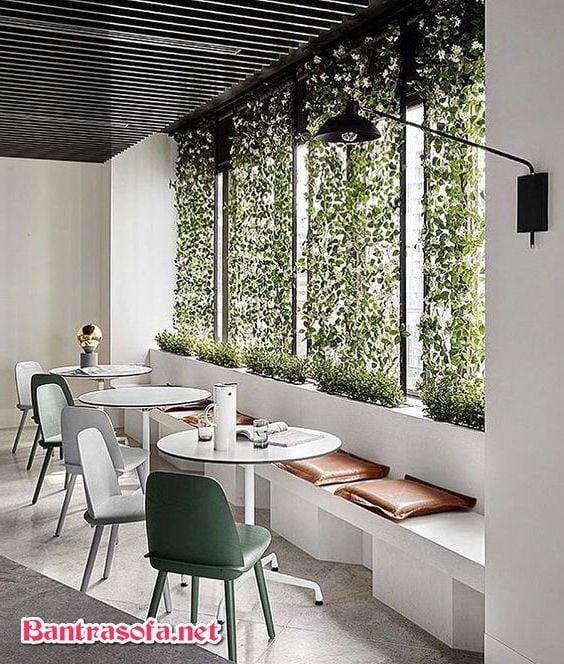 bàn ghế quán trà sữa bằng nhự