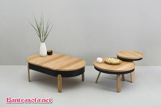 bàn trà nhật tròn chân thấp
