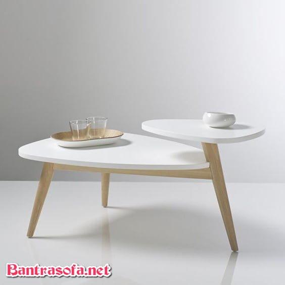 bàn trà gỗ công nghiệp đơn giản