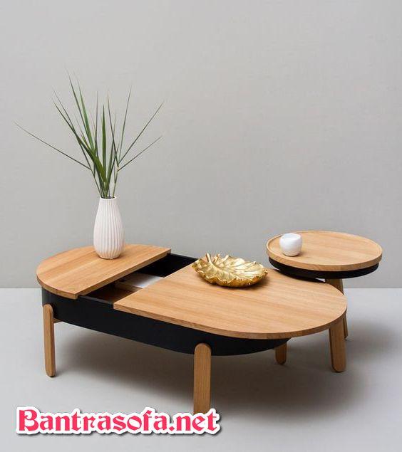 bàn trà gỗ công nghiệp hình bánh mì