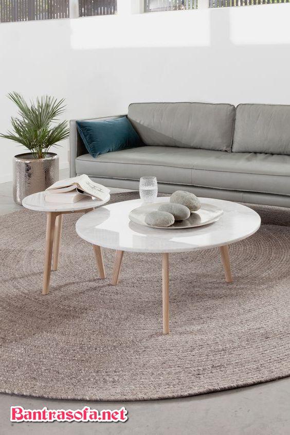 bàn trà gỗ công nghiệp đôi