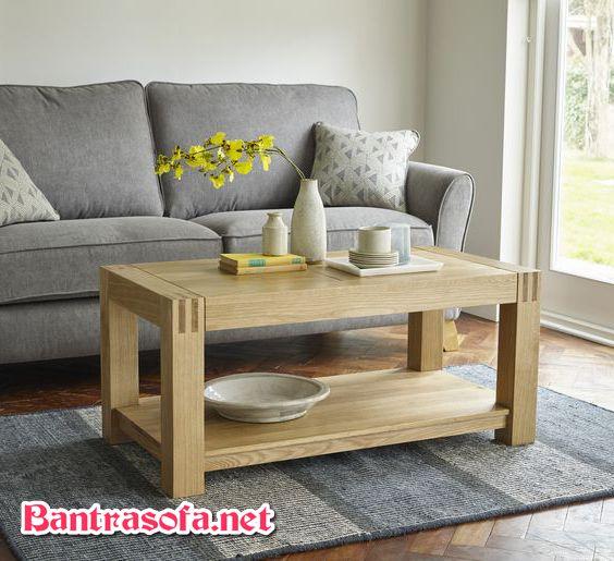 bàn trà gỗ oak trắng