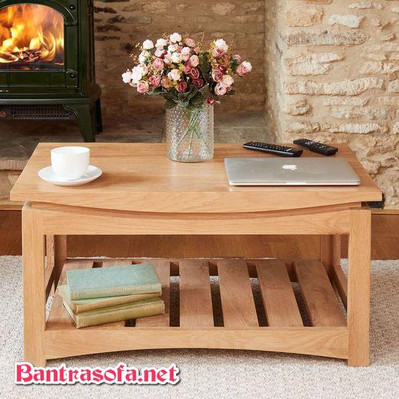 bàn trà gỗ sồi đơn giản