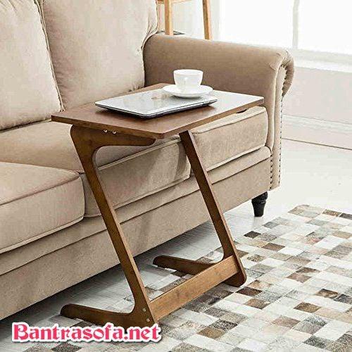 bàn sofa nhỏ chữ Z gỗ tự nhiên