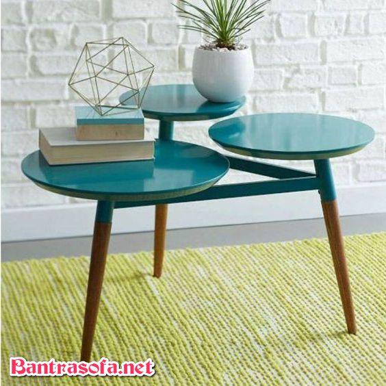 bàn trà tròn 3 tầng nhỏ gọn