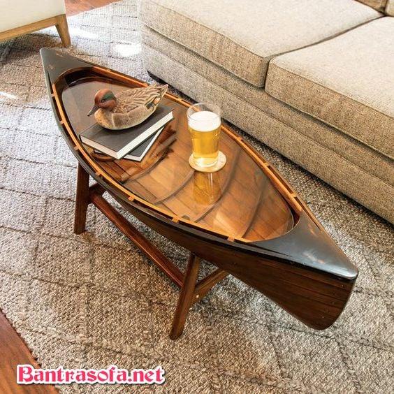 bàn trà sofa hình con thuyền lạ mắt