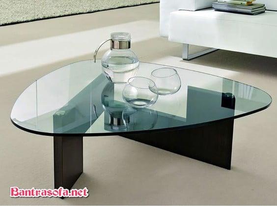 bàn trà mặt kính hiện đại